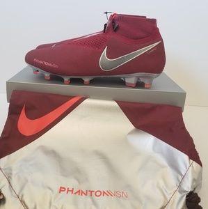 Nike Phantom VSN Elite DF FG Red Soccer Cleats